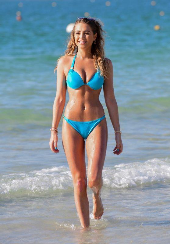 Georgia Harrison in Bikini on the Beach in Dubai