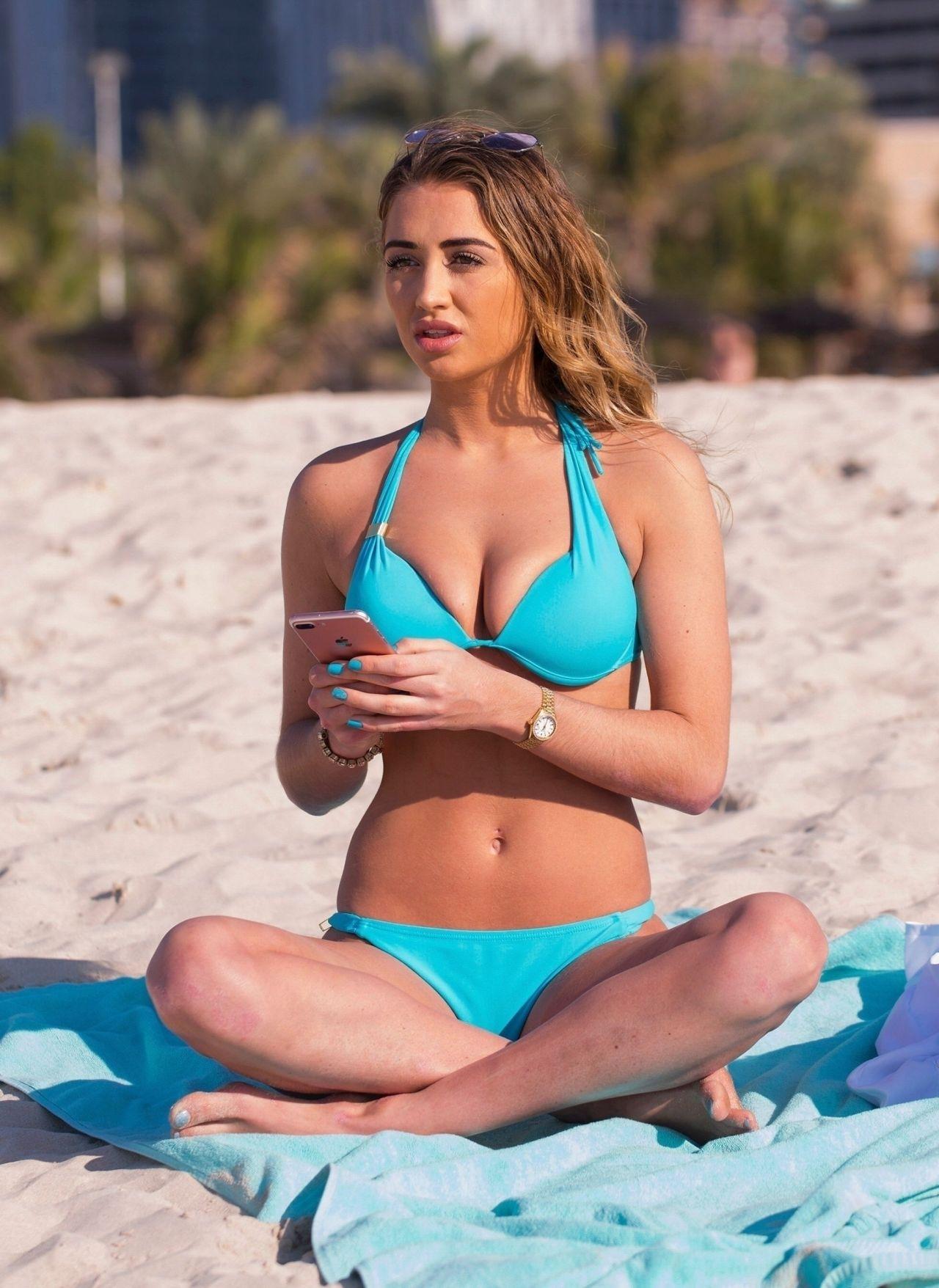 Georgia Harrison in Bikini on the pool in Dubai Pic 3 of 35