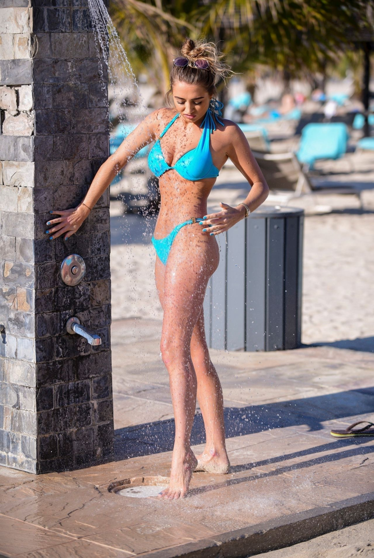 Georgia Harrison in Bikini on the pool in Dubai Pic 31 of 35