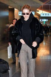 Gigi Hadid at Tokyo International Airport 01/27/2018
