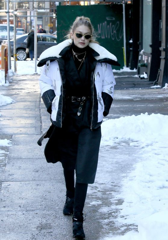 Gigi Hadid in Winter Style Outfit Heads Out for Lunch in Soho