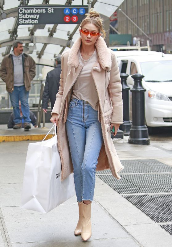 Gigi Hadid Street Fashion - Shopping at Givenchy in NYC
