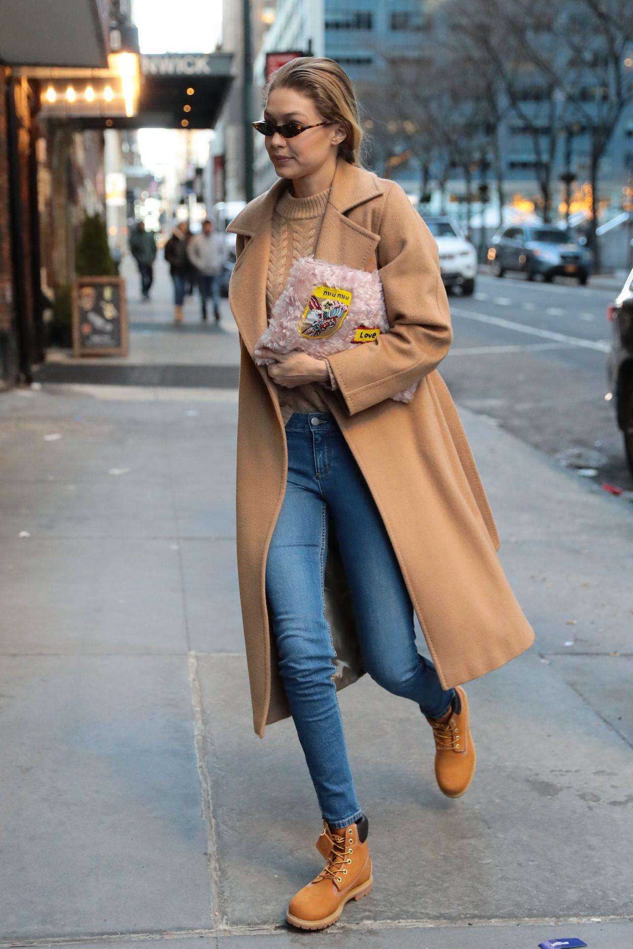 Gigi Hadid Winter Street Fashion