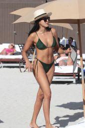 Ginevra Mavilla in Bikini at the Beach in Miami Beach
