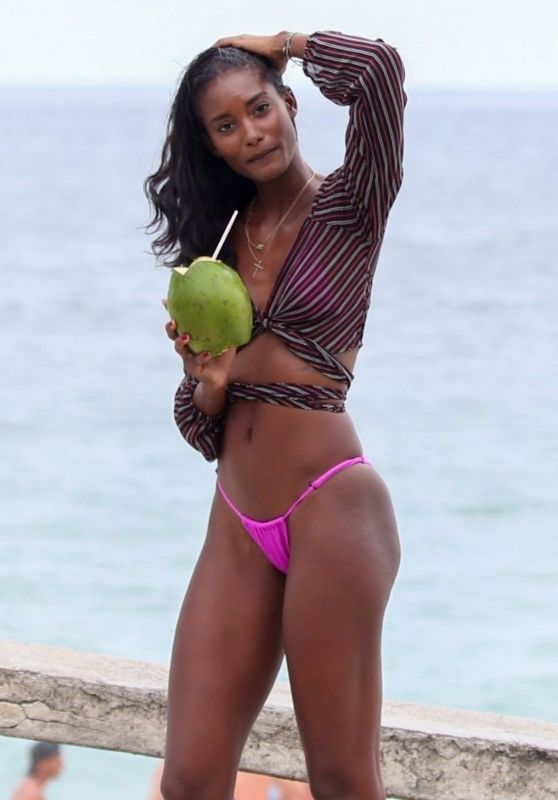 Grace Mahary Hot in Bikini on the Edge of Ipanema in Rio de Janeiro