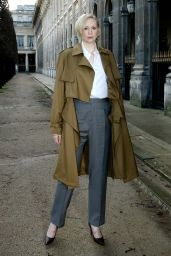 Gwendoline Christie - Louis Vuitton Menswear Fall/Winter 2018-2019 Fashion Show in Paris