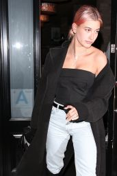 Hailey Baldwin at Craigs in West Hollywood