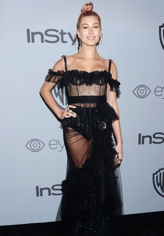 Hailey Baldwin – InStyle and Warner Bros Golden Globes 2018 After Party