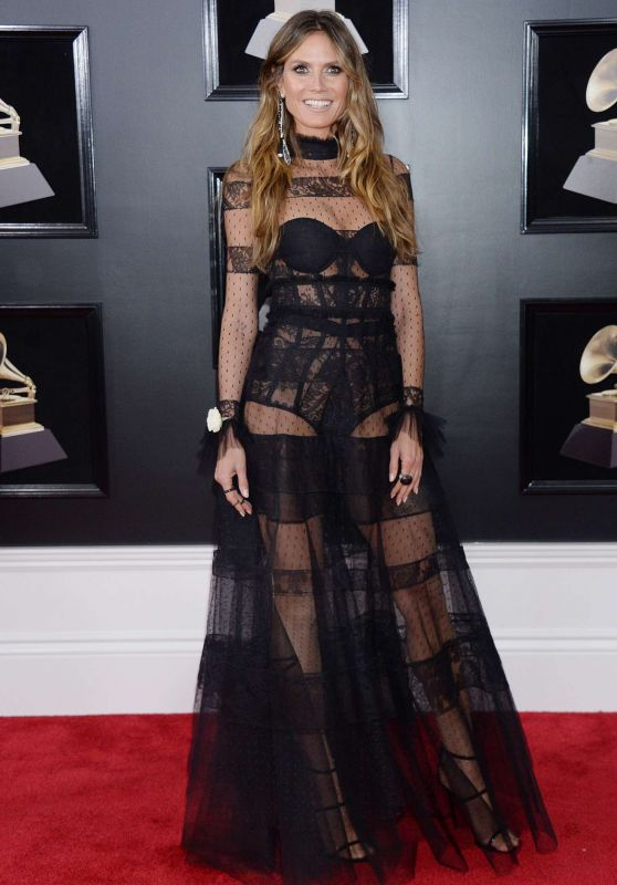 Heidi Klum – 2018 Grammy Awards in New York