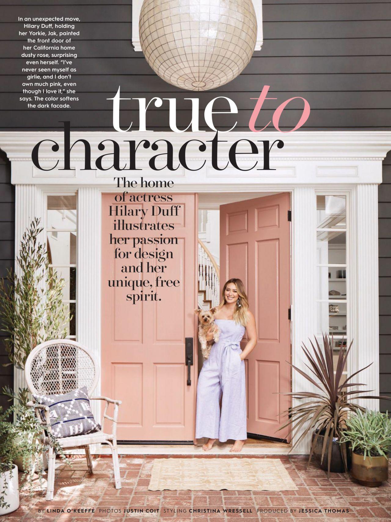 Hilary Duff Better Home And Garden Magazine February 2018