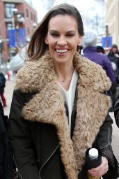 Hilary Swank in Winter Outfit at the Sundance Film Festival 2018 in Park City