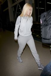 Iggy Azalea in Travel Outfit - Returns to LA 01/27/2018