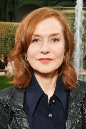 Isabelle Huppert at Chanel Paris Fashion Week, January 2018