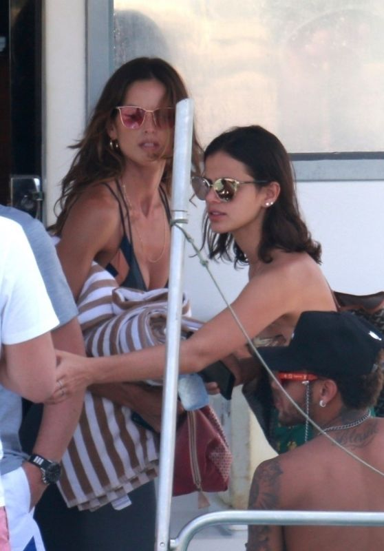 Izabel Goulart and Bruna Marquezine on a Boat in Fernando de Noronha