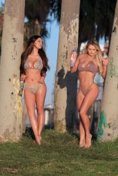 Jamie Leigh and Kinsey Wolanski Bikini Photoshoot for 138 Water in Venice Beach