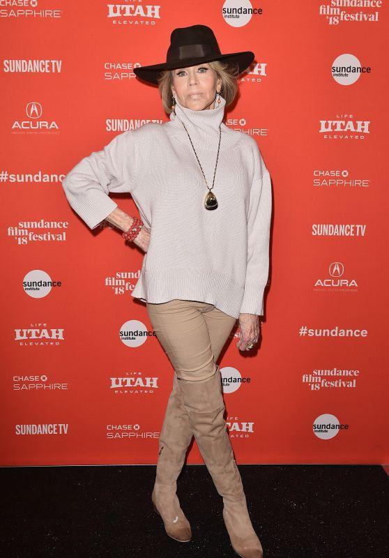 "Jane Fonda  - ""Jane Fonda In Five Acts"" Premiere at 2018 Sundance Film Festival"
