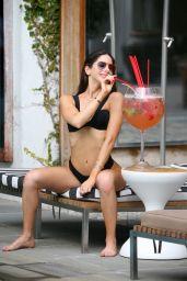 Jen Selter in a Black Bikini in Miami Beach