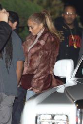 Jennifer Lopez and Alex Rodriguez Leaving the Nobu in LA