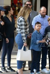 Jennifer Lopez Booty in Jeans - Out Lunch in Miami