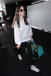 Jessica Biel in Travel Outfit Catches a Flight out of LAX in LA