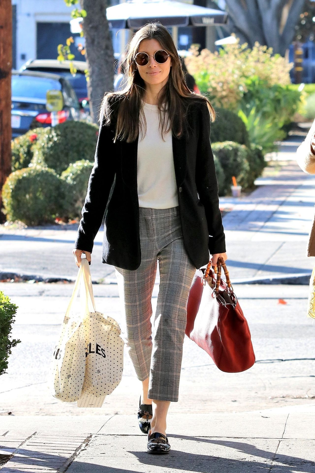 Jessica Biel Shopping in Los Angeles 01/22/2018