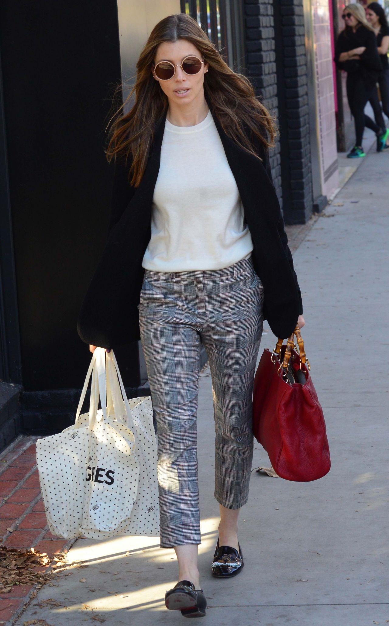Jessica Biel Fashion Week