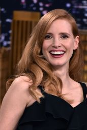 "Jessica Chastain Appeared on ""The Tonight Show Starring Jimmy Fallon"" in NYC"