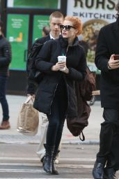 Jessica Chastain in Casual Outfit - New York City 01/20/2018