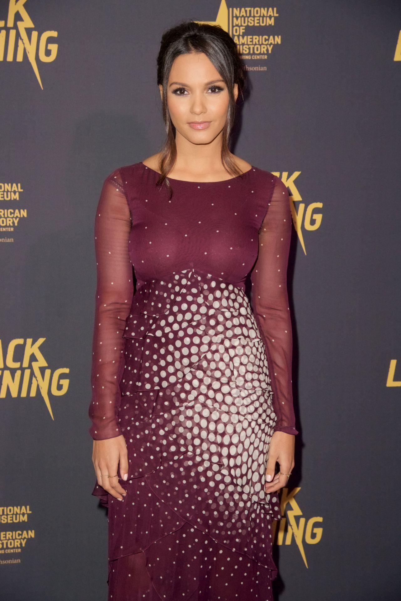"Jessica Lucas – ""Black Lightning"" Premiere in Washington D.C."