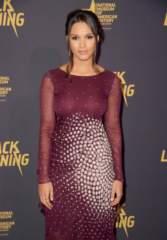 "Jessica Lucas – ""Black Lightning"" Premiere in Washington D.C."