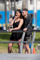 Jessica Shears and Fiance Dom Lever at Venice Beach 01/24/2018