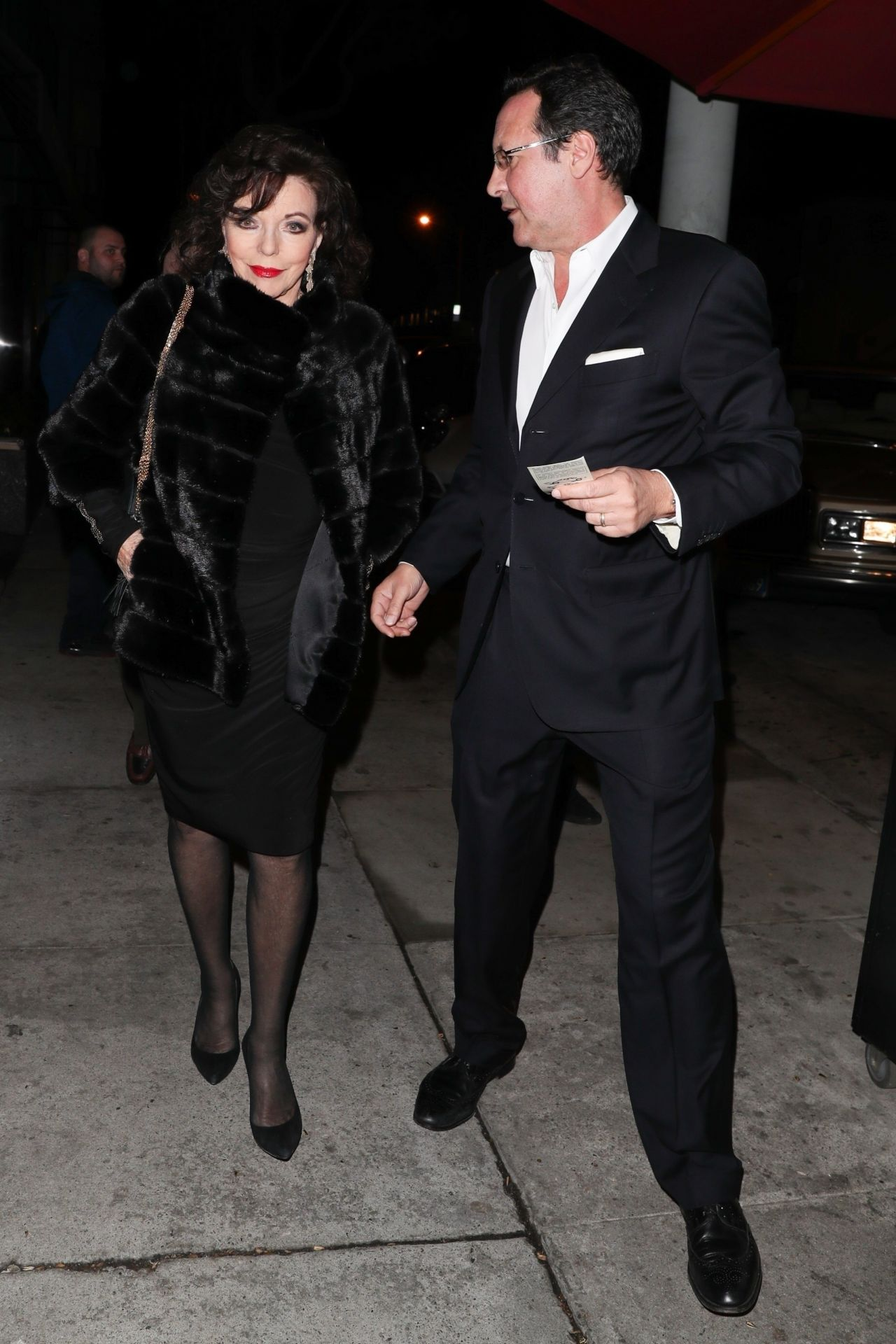 Joan Collins And Percy Gibson At Craig In West Hollywood Craigs