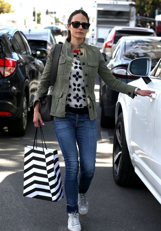 Jordana Brewster Street Style - West Hollywood 01/24/2018
