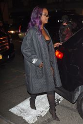 Justine Skye Leaving the Republic Records Party in New York