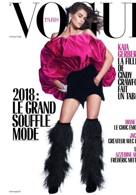Kaia Gerber - Vogue Paris February 2018 Cover