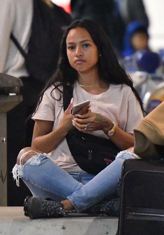 Karrueche Tran at LAX Airport in Los Angeles 01/03/2018