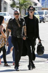 Kat Von D and Leafar Reyes at Vegan Hotspot Real Foods Daily in West Hollywood