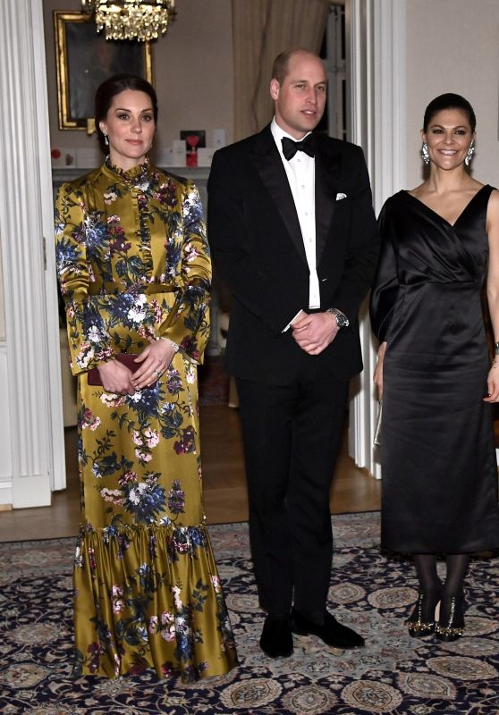 Kate Middleton and  Prince William - Dinner at the British Ambassador
