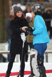 Kate Middleton at a Bandy Hockey Match in Stockholm