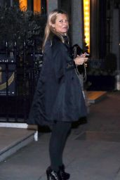 Kate Moss and Lottie Moss - Leaving a Private Members Club in London