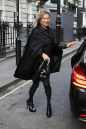 Kate Moss - Heading to a Private Members Club in Mayfair