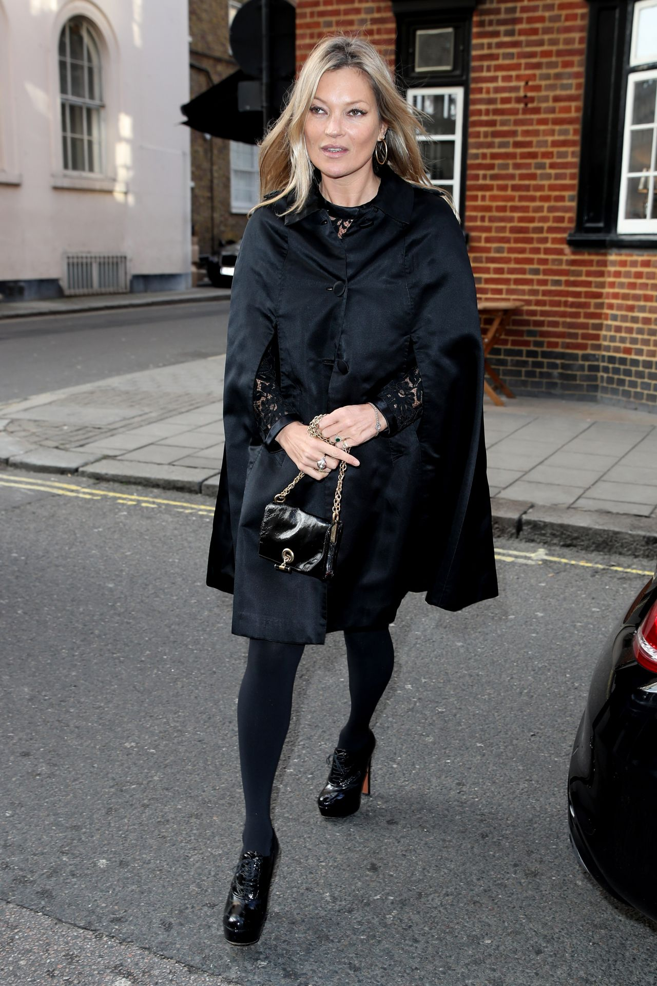 Kate Moss Heading To A Private Members Club In Mayfair