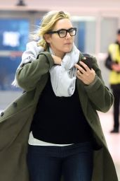 Kate Winslet in Travel Outfit at JFK Airport in NYC