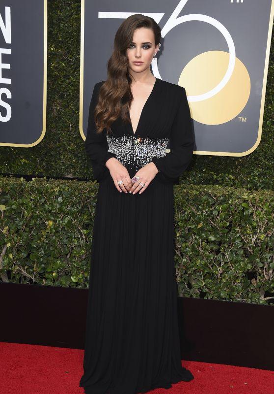 Katherine Langford – Golden Globe Awards 2018 in Beverly Hills