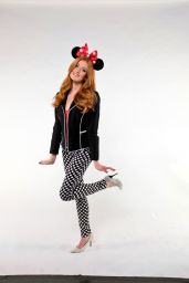 Katherine McNamara - National Polka Dot Day & Minnie Mouse Getting Her Star on Hollywood Walk Of Fame Photoshoot, January 2018