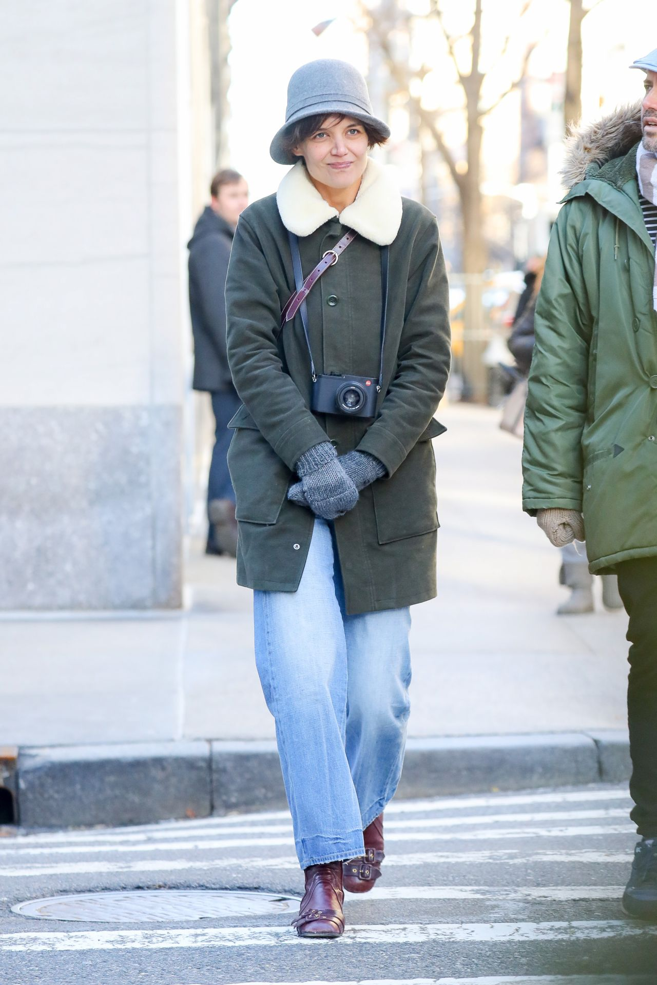 Katie Holmes in Cute Winter Outfit in NYC