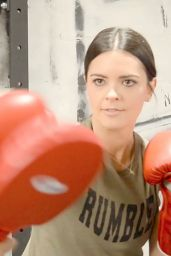Katie Lee - Working out at Rumble Boxing in New York