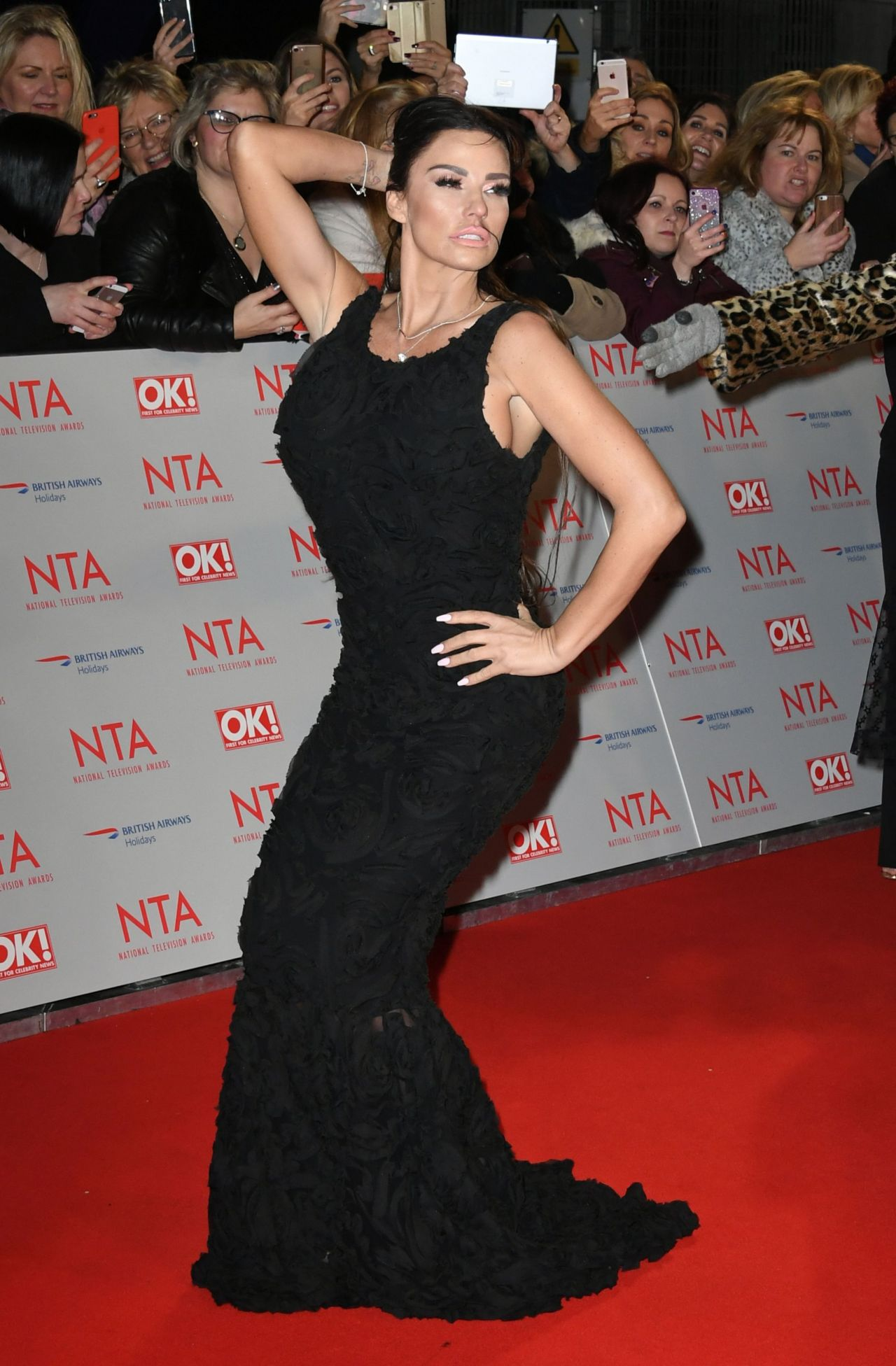 Katie Price - 2018 National Television Awards in London