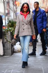 Keke Palmer Casual Style - Out in NYC 01/14/2018