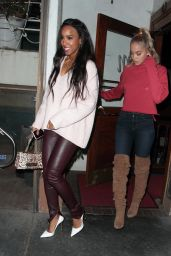 Kelly Rowland and Jasmine Sanders at Madeo in West Hollywood